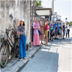 페낭,벽화,음식,골목,말레이시아,여행,도시,수도,길거리,버스