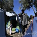 캠프,그리스,난민,수용,시위