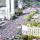 집회,광화문,군중,서초동,국민,한국당