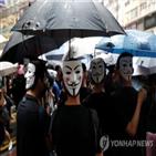 홍콩,시위대,시위,경찰,중국,인민해방군,이날,행동,마스크,정부
