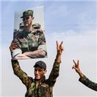 시리아,쿠르드족,만비즈,정부군,터키,대통령,위해,통신,이후,터키군