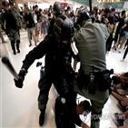 홍콩,중국,시위,정부,긴급법,동방일보,대한,복면금지법,시행,적용
