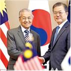 아세안,말레이시아,총리,한국