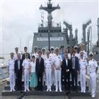 콜롬비아,해군,카르타헤나,순항훈련전단,참전용사,항구,입항,기항지