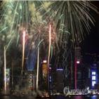 홍콩,관광객,축제,취소,불꽃놀이,급감,지난달,실업률