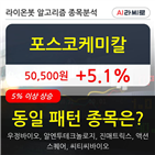 포스코케미칼,보이,주가,5.49