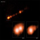 블랙홀,속도,물질,제트,관측