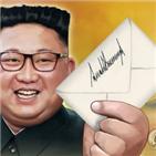 위원장,대통령,북미,김정은,친서,트럼프,채널
