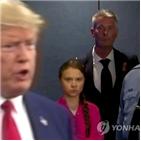 트럼프,다보스포럼,대통령,미국,기후,장관,변화,툰베리,참석,세계