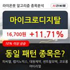 마이크로디지탈,상승,기사