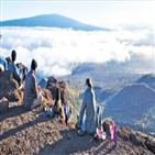 아일랜드,하와이,용암,화산,사이,킬라우에아,바다,다른,분화구,기분