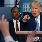 트럼프,코로나19,지원,북한,대통령,백악관,대한,연기
