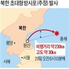 북한,도발,발사,방사포,미사일,초대형,발사체,정부