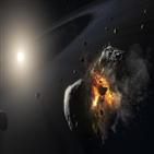 포말하우트,충돌,천체,행성,허블,먼지구름,포착
