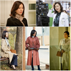 제품,패션,김희애,드라마,강조,스타일,코트,한소희,귀걸이