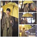 김명수,홍조,촬영,사랑,다림,우산