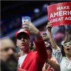 트럼프,코로나19,대통령,유세,검사,확진,미국,시위대,이날,유세장