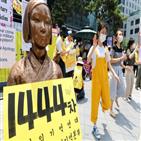 집회,소녀상,자유연대,정의연,수요시위,장소