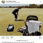 웨스트,골프,유모차