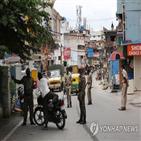 확진,인도,봉쇄,조치,통제,최근