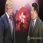 홍콩,대한,중국,행정명령,제재,트럼프,미국,개인,대통령,조치
