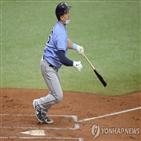 최지만,타자,타석,오른손,홈런,토론토,탬파베이