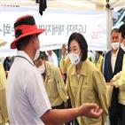 전통시장,장관,지원,상인,박영선,위기