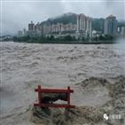 중국,홍수,최대,쓰촨