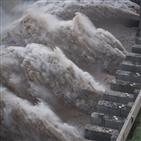 충칭,창장,홍수,중국,전날