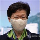 홍콩,장관,미국,제재
