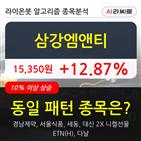 삼강엠앤티,주가,상승