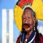 족장,라오니,브라질,원주민,대통령