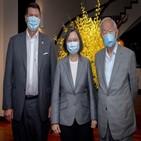 대만,미국,총통,차관,크라크,반도체,만찬,창업자