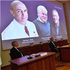 수상자,노벨생리의학상,발견,아시아