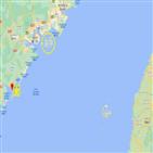 대만,대만해협,중국,훈련
