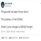 가격,모델,전기차,테슬라
