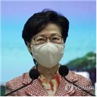 홍콩,중국,미국,제재,금융기관,장관,국무부,조치