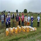 모잠비크,코로나19,식량키트,말뚝,식량지원