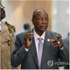 대통령,기니,선거,결과