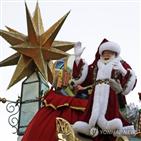 산타,미국,행사,코로나19