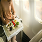 비즈니스석,기내식,비행기,식당,항공기,비행,실제