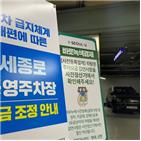 요금,인상,공영주차장,코로나,주차장,급지,서울시,체계,지자체,일부