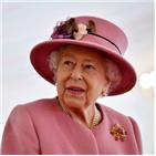 여왕,영국,코로나19