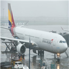 아시아나항공,결정,하락