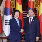 베트남,한국,총리