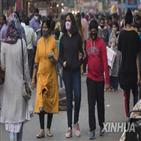 뉴델리,코로나19,확진,대기오염,인도