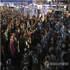 시위,라이프치히,코로나19,독일,사람,당국,비판
