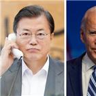 대통령,바이든,당선인,한국,미국,코로나,위해,정상통화