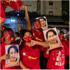 미얀마,총선,여당,양곤