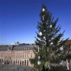 프랑스,코로나19,크리스마스트리,마크롱,대통령